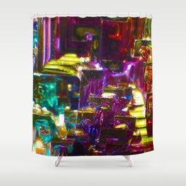 Rainbow Bismuth Shower Curtain