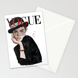 Fashion Magazine Cover Stationery Cards