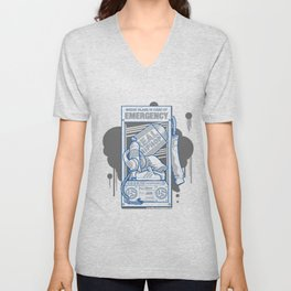 Emergency Hip Hop to the Rescue!  Unisex V-Neck