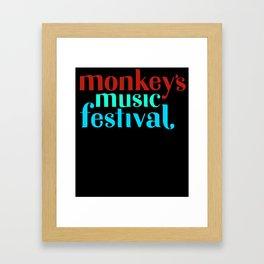 The Monkeys Festival Framed Art Print