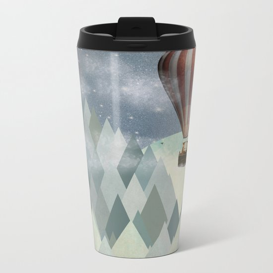 mr and mrs fox great adventure Metal Travel Mug