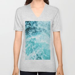 Perfect Sea Waves Unisex V-Neck
