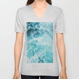 Perfect Sea Waves Unisex V-Neck