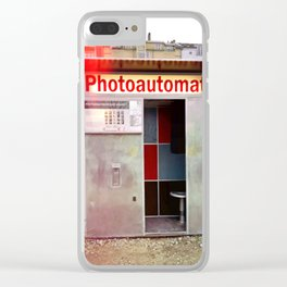 Photoautomat in Berlin Clear iPhone Case