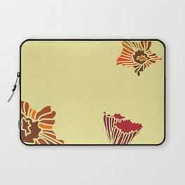 Snazzy Fall Flowers on Creme Laptop Sleeve