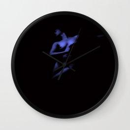 Vintage Nude : Indigo Blue Wall Clock