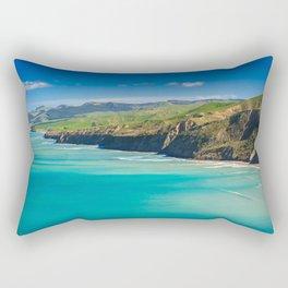 green hills and sea landscape Rectangular Pillow