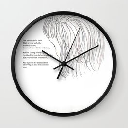 melancholic love Wall Clock