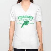 iwatobi V-neck T-shirts featuring Iwatobi - Orca by drawn4fans