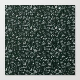 A Plethora (Deepest Green) Canvas Print