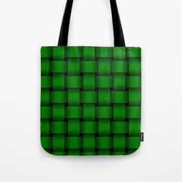 Large Green Weave Tote Bag