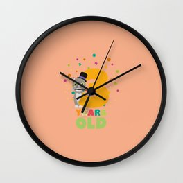 Three Years third Birthday Party Cat Ddd8s Wall Clock