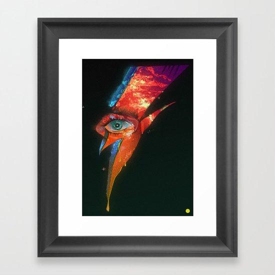 BLACK GLAM TEAR Framed Art Print