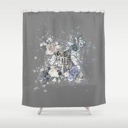 Hogwarts Crest Distressed Shower Curtain
