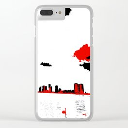 Toronto From Across the Water Painted Photograph Clear iPhone Case