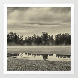 The river and the trees Art Print