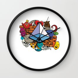 Geometry Triangle Square Pyramid Geometric 3d Shape Form Isometry Wall Clock