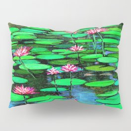 Homage to Ponds, Lilies and Lily Pads Pillow Sham
