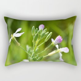 Small purple flowers Rectangular Pillow