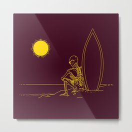 No waves, just waiting and relax (forever)... Metal Print