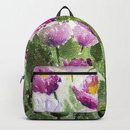 Oriental Poppies Field Backpack