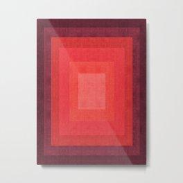 Red modern art Metal Print