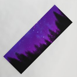 Galaxy Over the Forest at Night Yoga Mat