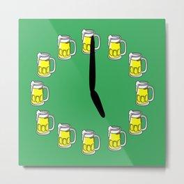 Beer o'clock Metal Print