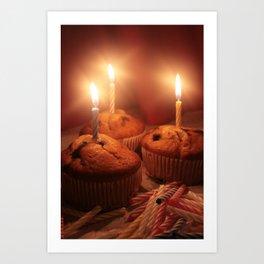 Birthday Cupcakes!!! Art Print