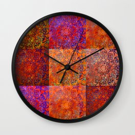 RED JELLY BLUES Wall Clock