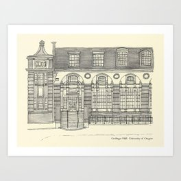 Gerlinger Hall Art Print