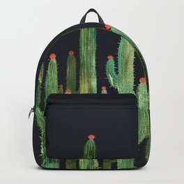 Cactus Four at night Backpack