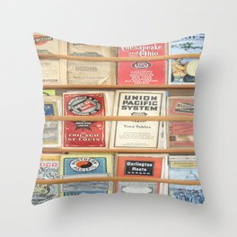 American Rail Brochures, Steamship Lines & More! Throw Pillow