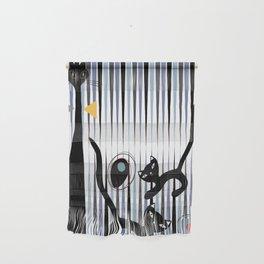 Mid-Century Modern Art - Cat & Kittens Wall Hanging