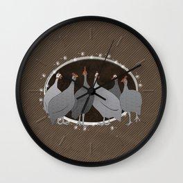 Helmeted Guineafowl Wall Clock