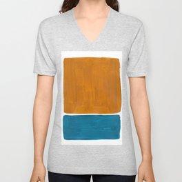 Minimalist Mid Century Modern Colorful Color Field Rothko Unisex V-Neck