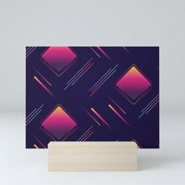 Future Portals Synthwave Aesthetic Mini Art Print