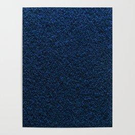 Dark Blue Fleecy Material Texture Poster