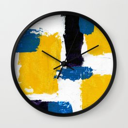 Abstract Expression #2 by Michael Moffa Wall Clock