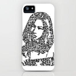 Kanji Calligraphy Art :woman's face #31 iPhone Case