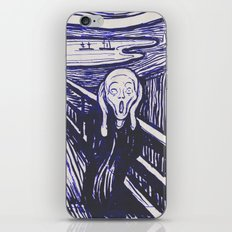 The Scream's Haze (dark blue) iPhone & iPod Skin