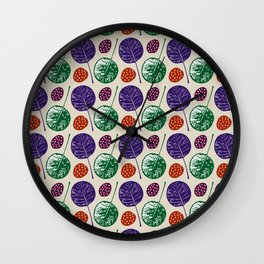 Round leaves Wall Clock