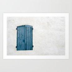 Old blue store Art Print