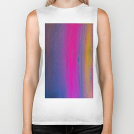 Magical Neon Streaks of Light Biker Tank