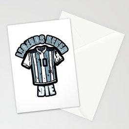 Maradona R.I.P. Legends Never Die Stationery Cards