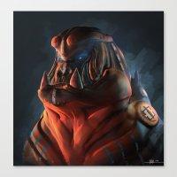 gorilla Canvas Prints featuring Gorilla by Kirkrew