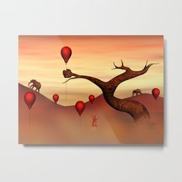 Believe what you see, Fantasy Landscape Metal Print