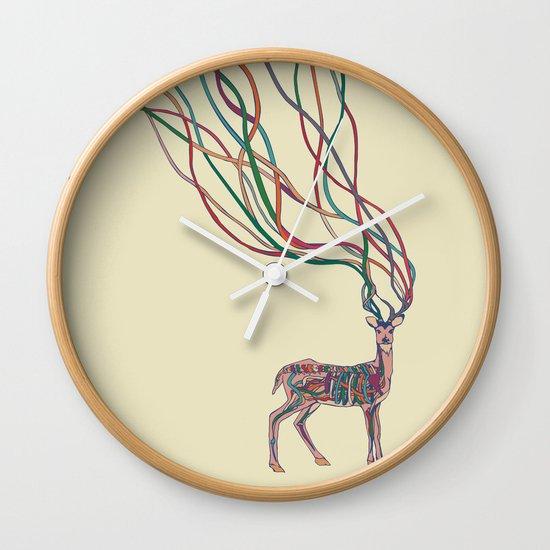 Deer Ribbons Wall Clock