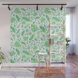 Tropical Leaves Wall Mural