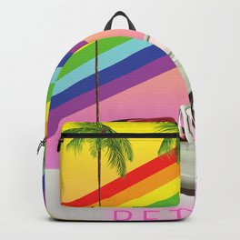 Retro Old Classic Car art Backpack